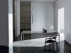 Tavolo rettangolare in alluminio e vetro SLIM RECTANGULAR | Tavolo in vetro - Slim
