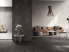 Pavimento/rivestimento in gres porcellanato effetto pietraSLIMTECH NEXTONE - NEXT DARK - LEA CERAMICHE
