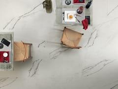 LEA CERAMICHE, SLIMTECH TIMELESS MARBLE STATUARIO WHITE Pavimento/rivestimento antibatterico in gres laminato