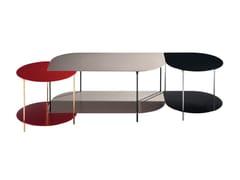 Tavolino basso in alluminio anodizzatoSMALL - ROCHE BOBOIS