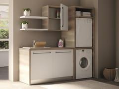 Mobile lavanderia a colonna componibile in nobilitato con lavatoioSMARTOP - COMPOSIZIONE 2 - COLAVENE