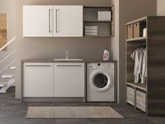 Mobile lavanderia componibile in nobilitato con lavatoioSMARTOP - COMPOSIZIONE 1 - COLAVENE
