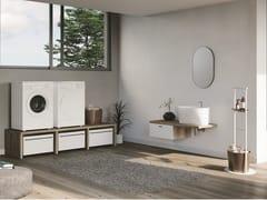 Mobile lavanderia componibile in legno con cassetti per lavatriceSMARTOP - COMPOSIZIONE 10 - COLAVENE