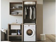 Mobile lavanderia a colonna componibile in nobilitato con lavatoioSMARTOP - COMPOSIZIONE 7 - COLAVENE