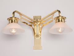 Lampada da parete a luce diretta fatta a mano in ottone SNOOKER II | Lampada da parete - Snooker