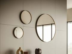 Specchio rotondo in metallo con cornice da pareteSNOW - APP DESIGN