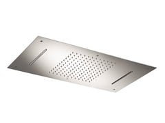 Soffione doccia a soffitto in acciaio inox con 3 getti SO625 | Soffione doccia - Soffioni doccia
