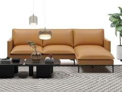Divano in pelle a 3 posti con chaise longueCOVER | Divano con chaise longue - GRADO DESIGN FURNITURES
