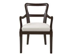 Sedia imbottita in tessuto con braccioli SOFIA | Sedia con braccioli -