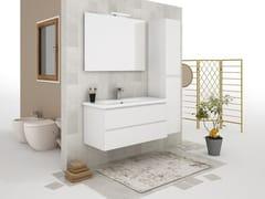 Mobile lavabo sospeso con cassetti SOFT 05 - Express