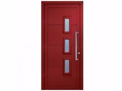Porta d'ingresso in PVC per esterno su misura con pannelli in vetro SOFT POLA -