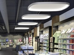 Lampada a sospensione a LED in alluminio SOFT QUADRA LIGHT + ACOUSTIC - Soft Quadra