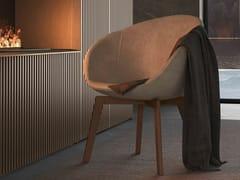 Sedia imbottita in tessuto con braccioliSOFTLY   Sedia - OLIVIERI