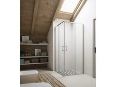Box doccia con porta scorrevole SOHO MX - Showering