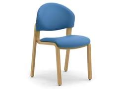 Sedia impilabile in legno lamellare e tessutoSOLEIL | Sedia - LEYFORM