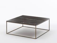 Tavolino basso da caffè in marmo SOLFERINO   Tavolino quadrato - Milano Collection