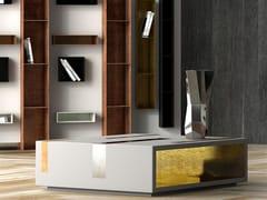 Tavolino basso quadrato in Solid Surface con portarivisteMAGNIFICA | Tavolino in Solid Surface - BOFFETTO