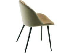 Sedia da ristorante imbottita in metallo in stile modernoSONNY S-Q | Sedia in tessuto - MIDJ