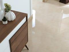 Pavimento/rivestimento in gres porcellanato effetto marmo SOUL CREAM - URBATEK - Grès Porcellanato