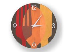 Orologio da parete in legno intarsiatoSOVRAPOSATE COLORS | Orologio - LEONARDO TRADE