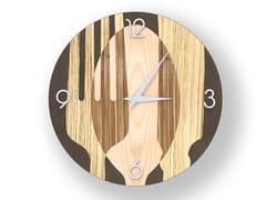 Orologio da parete in legno intarsiatoSOVRAPOSATE WARM | Orologio - LEONARDO TRADE