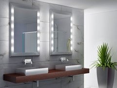 UNICA by Cantoni, SP301 Specchio rettangolare in alluminio anodizzato da parete con illuminazione integrata