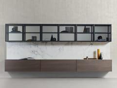 Parete attrezzata componibile in marmo e legnoSPAZIO 03 - PIANCA