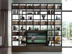 Libreria componibile con porta tvSPAZIOTECA | Libreria con porta tv - PIANCA
