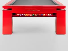 Tavolo da biliardo rettangolare laccato lucidoSPORT RED - NUEVEPIES BARCELONA
