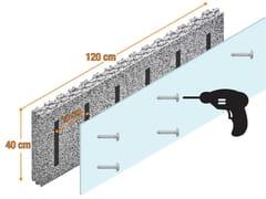 Isolamento a cappotto interno con struttura per cartongesso SPYROGRIP® INDOOR -