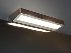 Antonio Lupi Design, SQUADRO36 Applique a luce diretta e indiretta alogena in acciaio inox