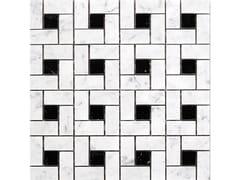 Mosaico in marmoSQUARE   BIANCO CARRARA NERO MARQUINA - IDEAMARMO