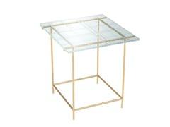 Tavolino di servizio quadrato in vetroGRASSI | Tavolino quadrato - FARGO HONGFENG INDUSTRIAL