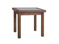 Tavolino da giardino quadrato in teakRING   Tavolino quadrato - IL GIARDINO DI LEGNO