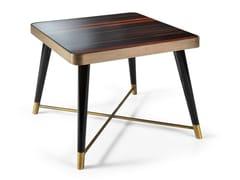 Tavolino di servizio quadrato in ebano PEGGY | Tavolino quadrato - Peggy
