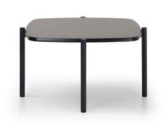 Tavolino basso quadrato in MDFBLADE COFFEE | Tavolino quadrato - TRUE DESIGN