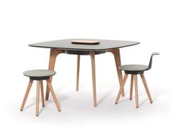 Tavolo da riunione quadratoTIMBA TABLE | Tavolo da riunione quadrato - BENE