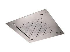 Soffione doccia a soffitto in acciaio inox con 3 gettiINOX DESIGN | Soffione doccia con 3 getti - REMER RUBINETTERIE