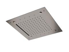 Soffione doccia a LED a soffitto in acciaio inoxINOX DESIGN | Soffione doccia - REMER RUBINETTERIE
