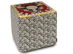 Pouf cubo in raso con stampa digitale OROSCOPO | Pouf - Horoscope