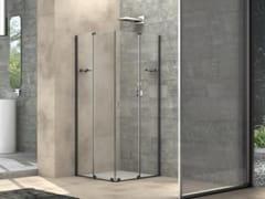 Box doccia quadrato in vetro con porta scorrevoleILLUSION   Box doccia quadrato - MEGIUS