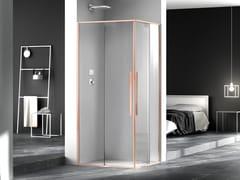 Box doccia quadrato in vetro con porta scorrevoleZEN   Box doccia quadrato - MEGIUS