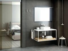 Mobile lavabo sospesoTHE GRID EVO | Lavabo quadrato - COSMIC