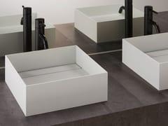Lavabo da appoggio quadrato in acciaio inox ASSE 350 -