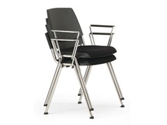 Sedia imbottita impilabile in plastica in stile moderno con braccioliVOLÉE EASY SOFT | Sedia impilabile - DIEMMEBI
