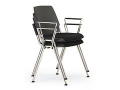 Sedia imbottita impilabile in plastica in stile moderno con braccioli VOLÉE EASY SOFT | Sedia impilabile - Volée Easy Soft