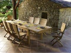 Tavolo allungabile da giardino da pranzo in teak STAFFORD | Tavolo da pranzo - Stafford