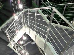 Parapetto in acciaio inox per scaleParapetto in acciaio inox - OFFICINE SANDRINI