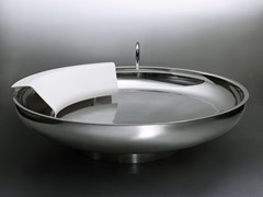 Vasca da bagno centro stanza rotonda in acciaio inoxUFO | Vasca da bagno in acciaio inox - AGAPE