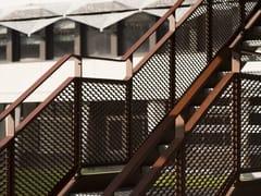METAL DEPLOYE, Parapetto per scale Parapetto in lamiera stirata per scale